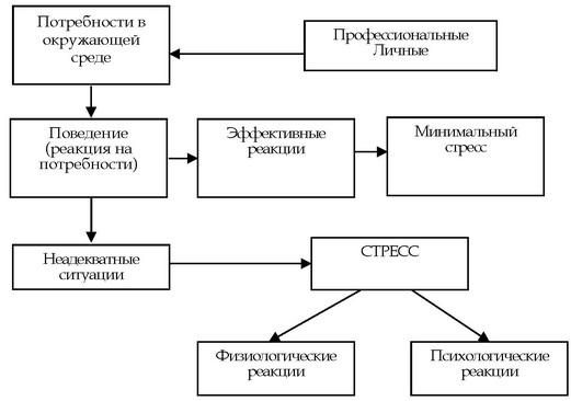 Схема модели стрессовой